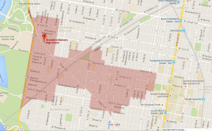 Strawberry Mansion Catchment Map